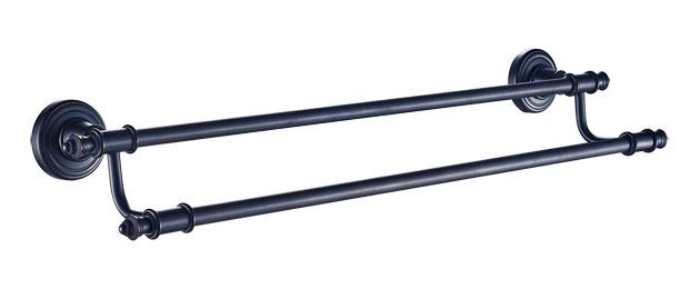 24-inch Oil Rubbed Bronze Double Towel Bar 3248