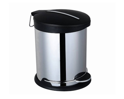 Stainless steel step trash bin for home/office/hotel