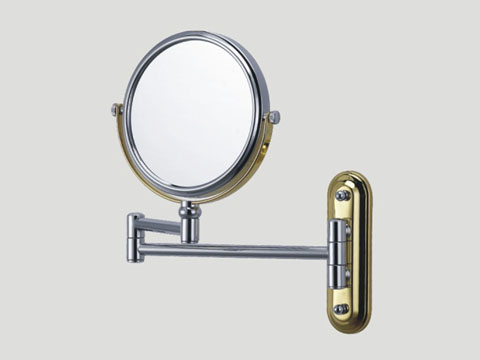 CG1022 Chrome Gold double arm shaving mirror CG1022