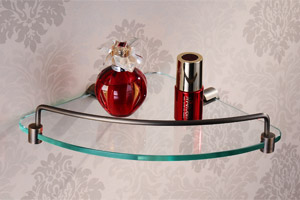 Stylish Corner Glass Shelf