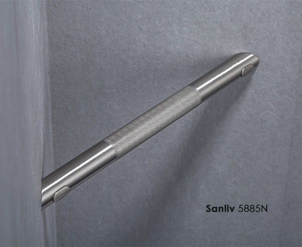 Corner Shower Foot Rest.Corner Shower Foot Rest Knurled Surface Texture In Brushed