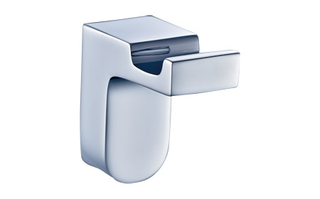 Stylish Contemporary Chrome Plated Brass Robe or Towel Hook 7953