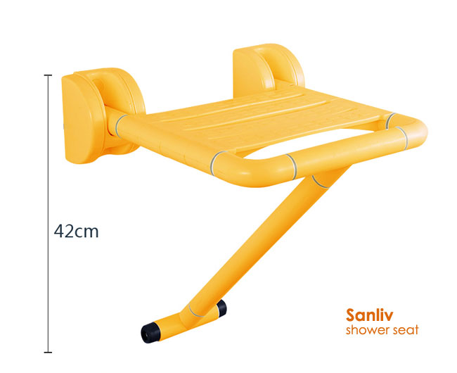 Fold down Shower Seat With Leg for Elderly and Disabled