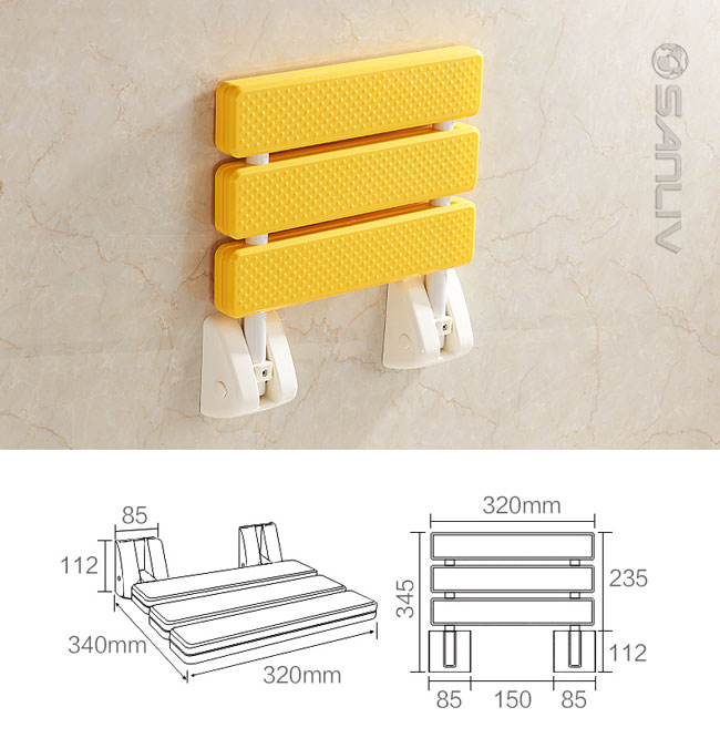 Wall Mount Footrest : Wall mounted folding up shower seat foot rest