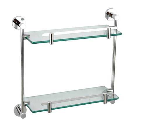 Glass shelves 14 image wall shelves for Bathroom glass shelves