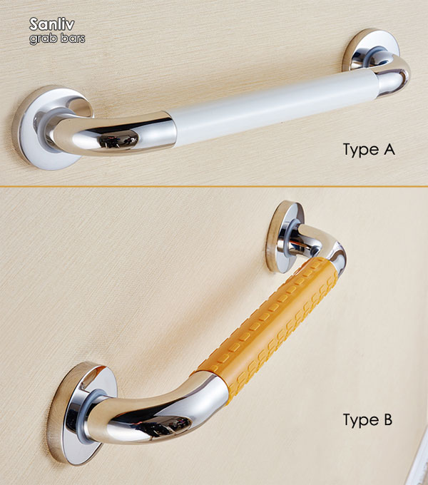 Straight Stainless Steel Grab Bar With Safety Grip