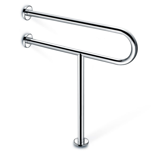 ADA Leg Support With U Shape Handicap Toilet Grab Bars