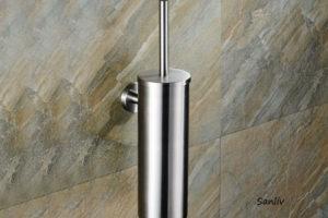 Brushed Stainless Steel Toilet Brush Holder