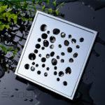 Chromed Brass Square Tile-in Shower Drain FL10