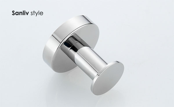 Stainless Steel Coat Towel Robe Hook Chrome