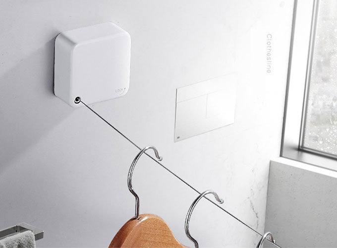 Image result for Retractable Stainless String Invisible Clothesline