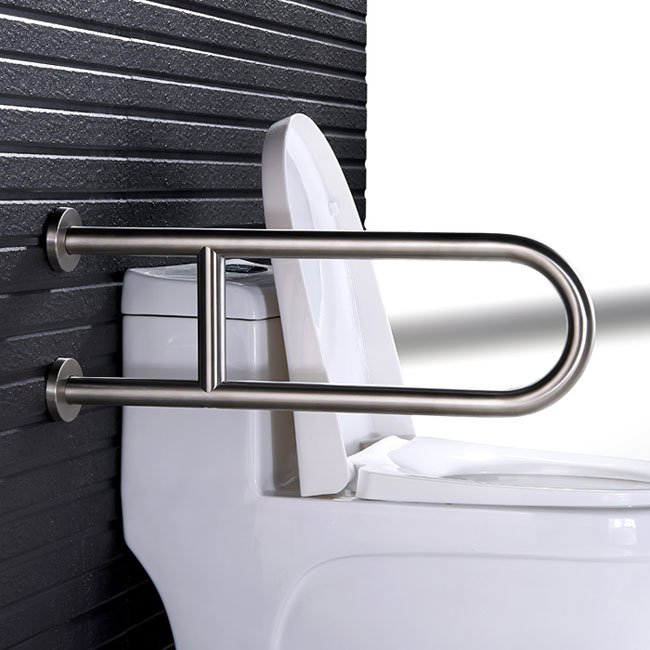 Handicap Toilet U Shape Grab Bar With Leg Support Grab
