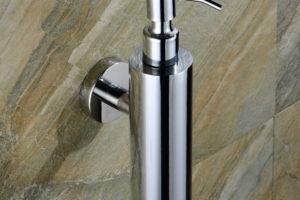 Polished Chrome Soap Dispenser for Hotel Bathrooms