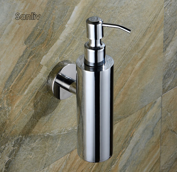 Wall Mount or Free Standing Satin Polished Stainless Steel Soap Dispenser