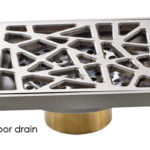 Square Tile-in Shower Drain in Brushed Nickel