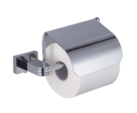 brass toilet paper roll holder with lid