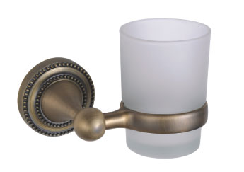 China Sanliv Bronze Toothbrush & Tumbler Holder