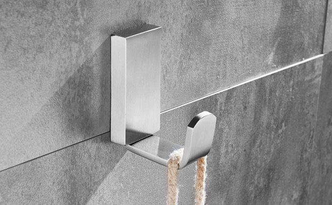 Sanliv Wall Mounted Satin Brushed Stainless Steel Robe Or Towel Hook 7853