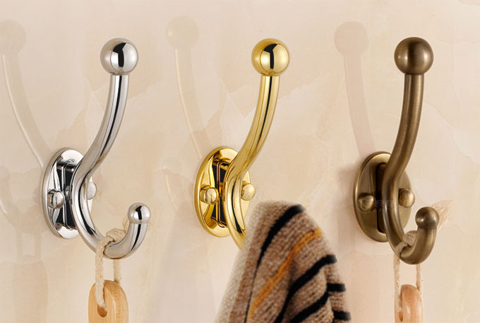 Wall Mount Coat Hat Robe Towel Hooks 5755