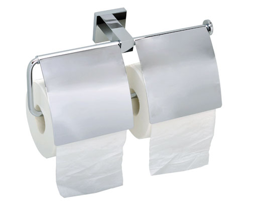 Square Double Spare Toilet Roll Holder With Cover 9251B