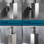 Square Soap Dispenser in Brushed & Polished Stainless