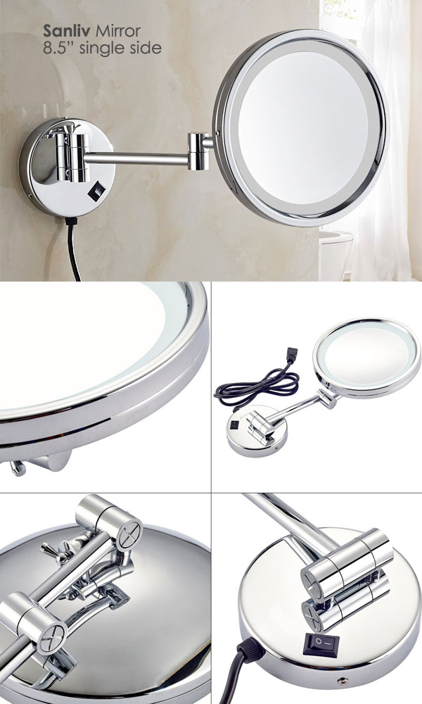 Hotel Style Single Sided LED Lighted Magnifying Makeup Mirror
