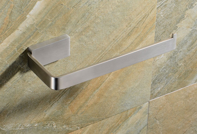 Satin Nickel Brushed Stainless Steel Towel Ring