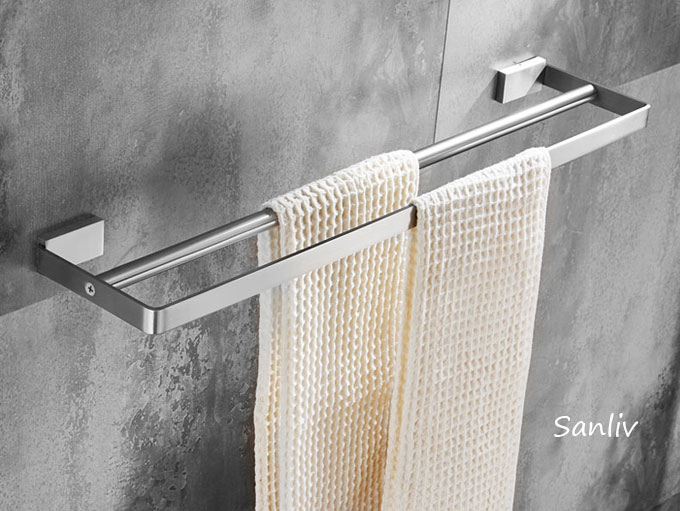 Sanliv 24 Inch Double Towel Bar in Brushed Satin Nickel Stainless Steel