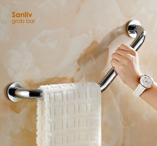Shower Grab Bars Bathroom Safety Rails Sanliv Commercial Bathroom Accessories Sets