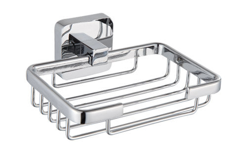Wall Mounted Chrome Wire Soap Holder Basket in Chrome