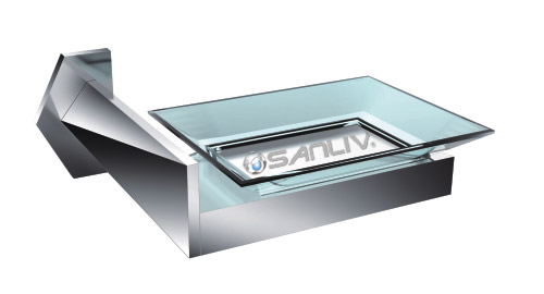 luxury square chrome soap dish holder