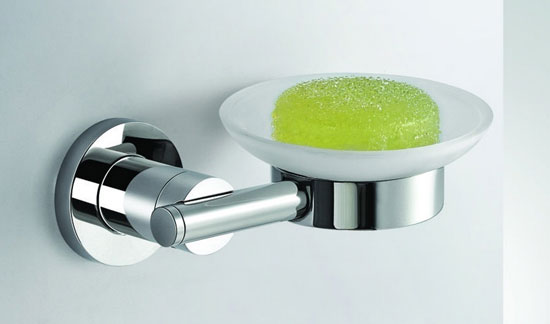 Soap dish holder with glass dish 8259
