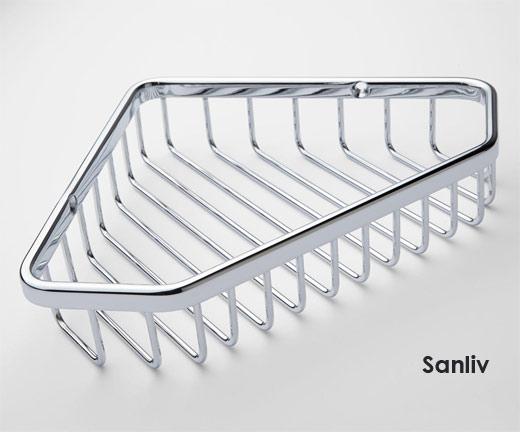 New Corner Basket Shower Caddy Shelf by Bathroom Accessories ...