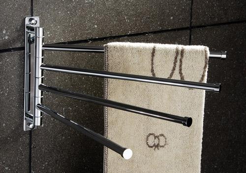 Brass 4 Bar Swivel Towel Holder Chrome