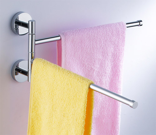 Merveilleux Double Bar Adjustable Towel Rack 5092
