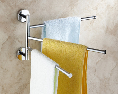 Exceptional Wall Mounted Triple Swivel Towel Bar 5093