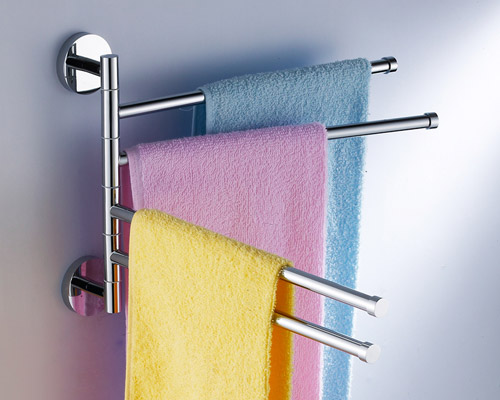 Swinging Towel Bar : New swivel towel bar by bathroom accessories manufacturer