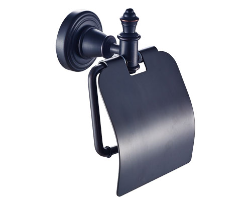 Toilet Tissue Holder with Cover Oil Rubbed Bronze