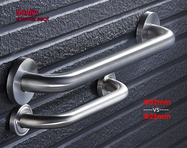 Toilet Shower Grab Bars Brushed Stainless Steel