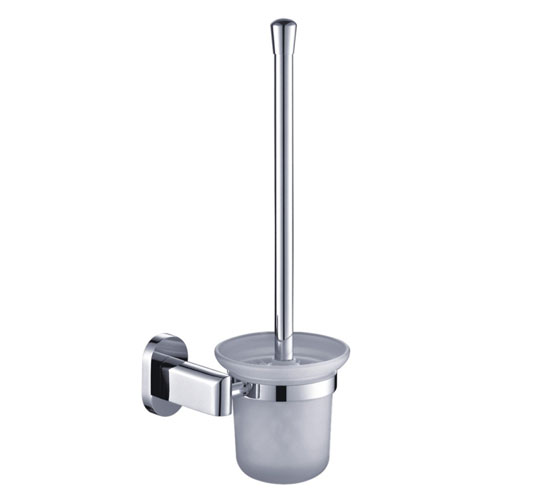 Wall mounted toilet brush holder