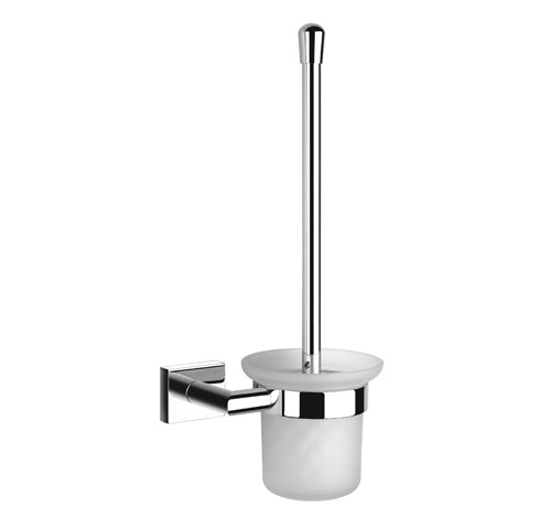Wall Mounted Frosted Gl Toilet Brush Holder
