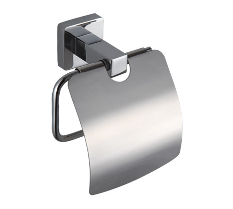 Chrome Toilet Paper Roll Holder with Cover