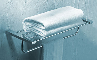 Genial Chrome Towel Shelf With Towel Bar 2022