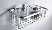 Wire Basket Shower Caddy Shelf