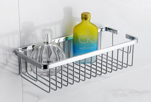 Modern Wire Basket Shower Shelf | Sanliv Bathroom Accessories for ...
