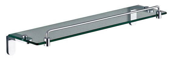 Clear Gl Bathroom Shelf With Rails