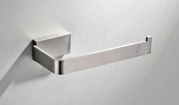 Satin Stainless Steel Toilet Roll Holder For Hotel Projects
