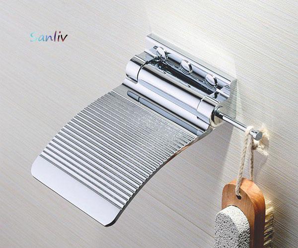 Chrome Shower Fold Up Shaving Footrest