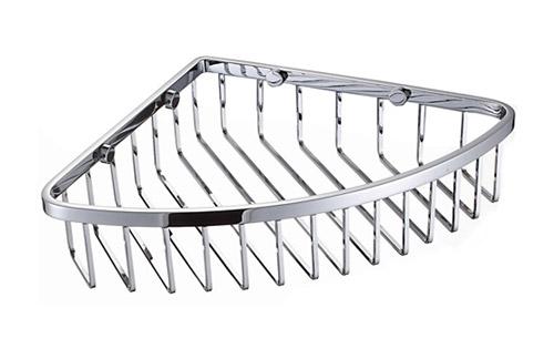 Chrome Wire Corner Basket Shower Caddy Shelf B5110