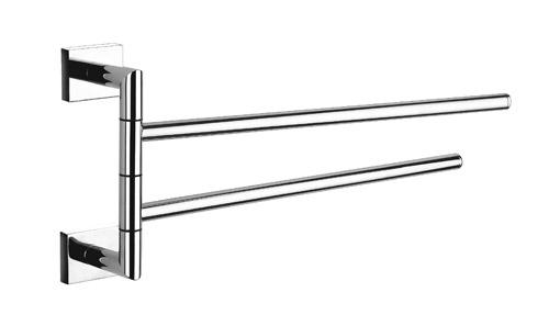 Chrome Double Arm Swivel Towel Bar
